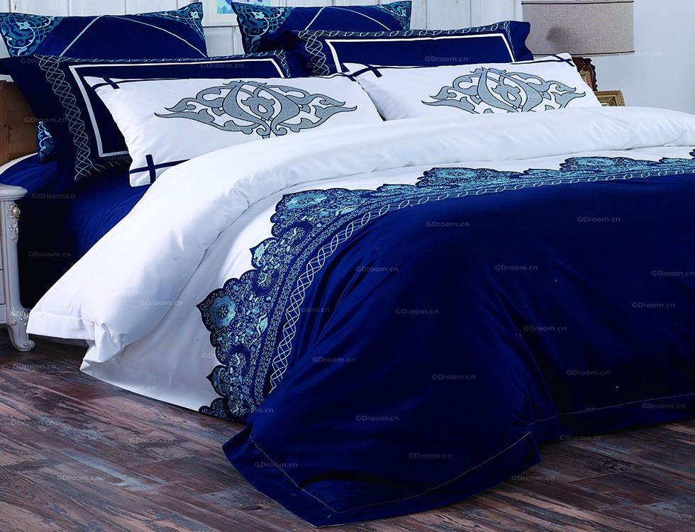 酒店布草风格 蓝海情怀